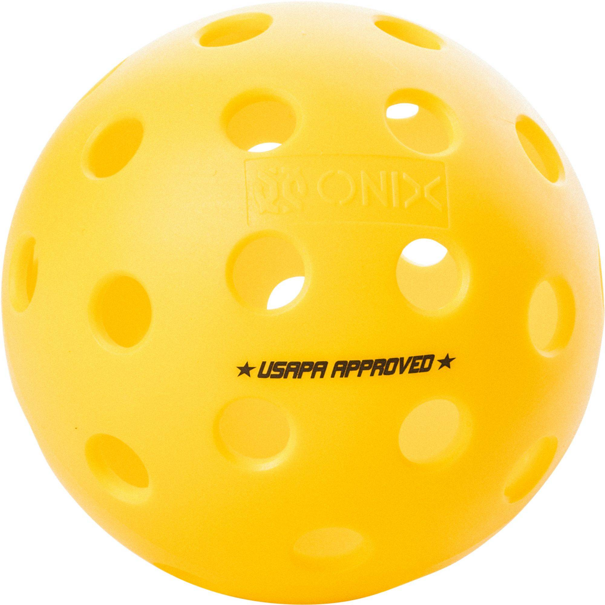 Onix Sports Onix Fuse Outdoor Pickleballs - 100 Pack, Yellow