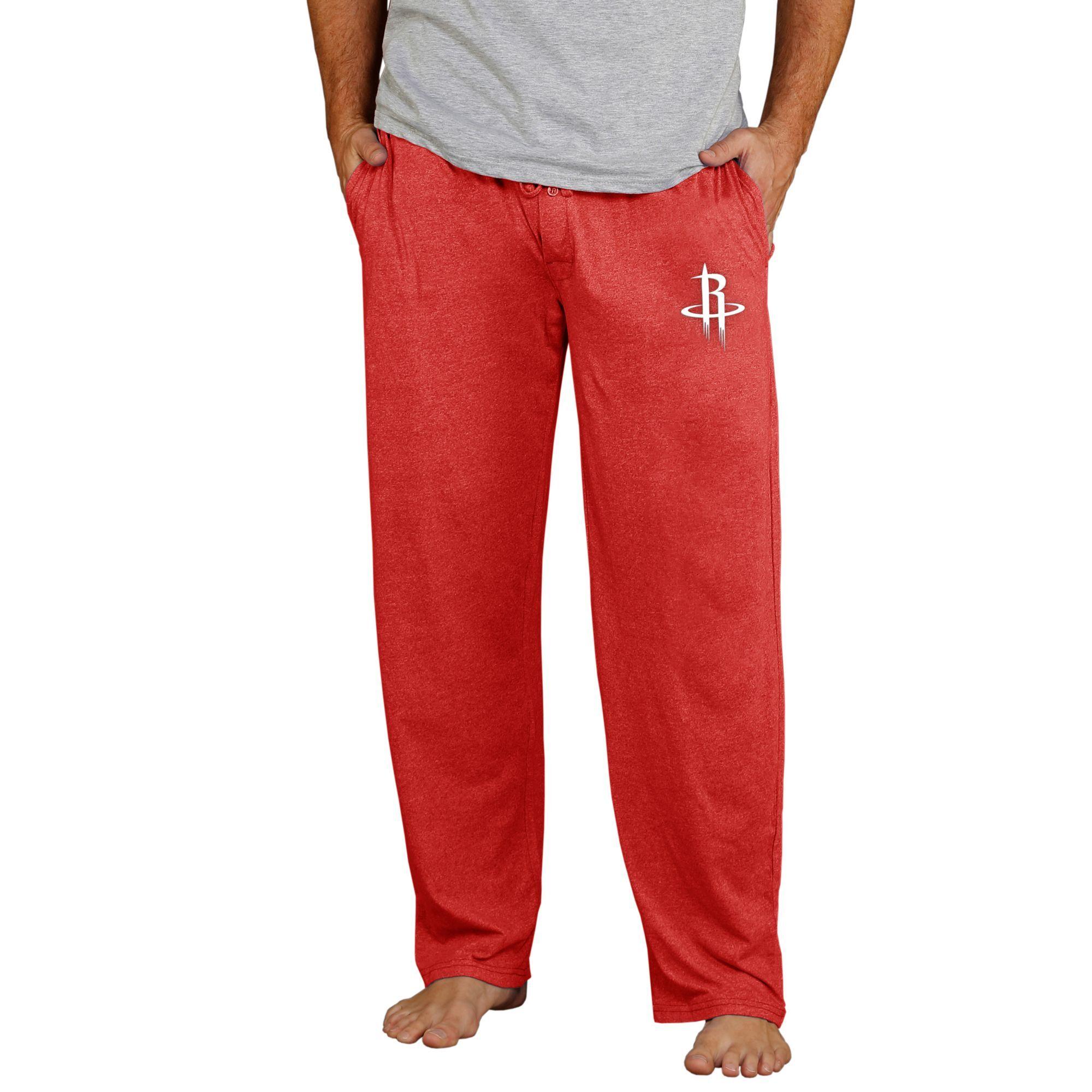 Concepts Sport Men's Houston Rockets Quest Knit Pants, Large, Red