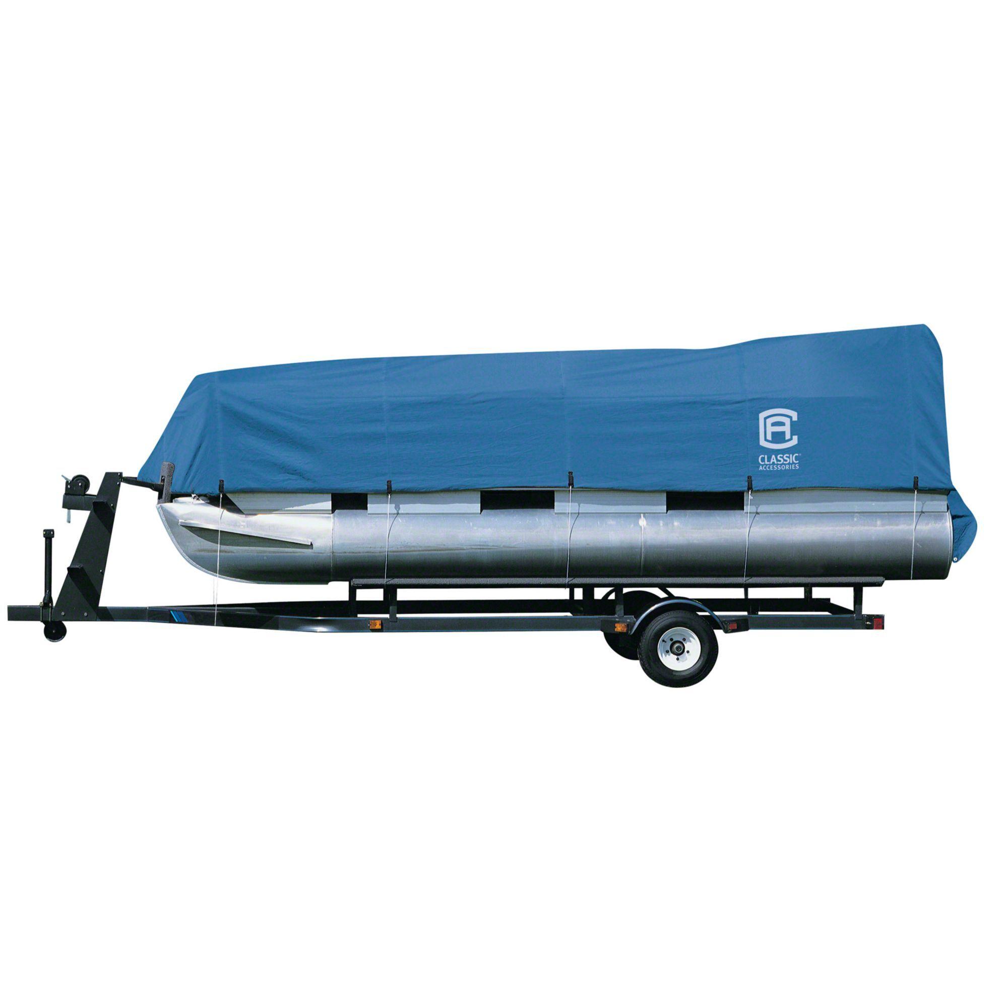 Classic Accessories Stellex Pontoon Boat Cover, Blue