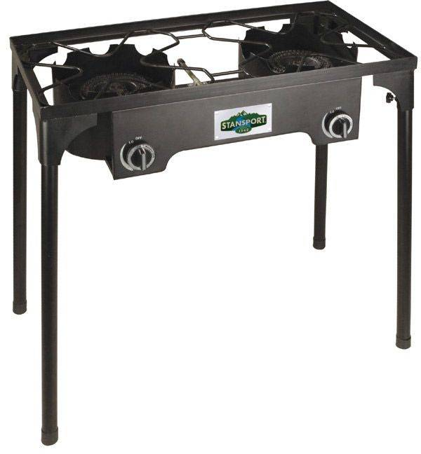 Stansport 2 Burner Outdoor Stove with Stand, steel