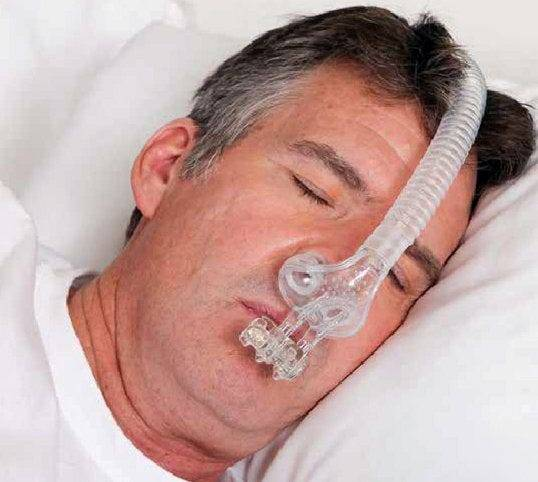 AM Airway Management TAP PAP Nasal Pillow CPAP Mask with Improved Stability Mouthpiece