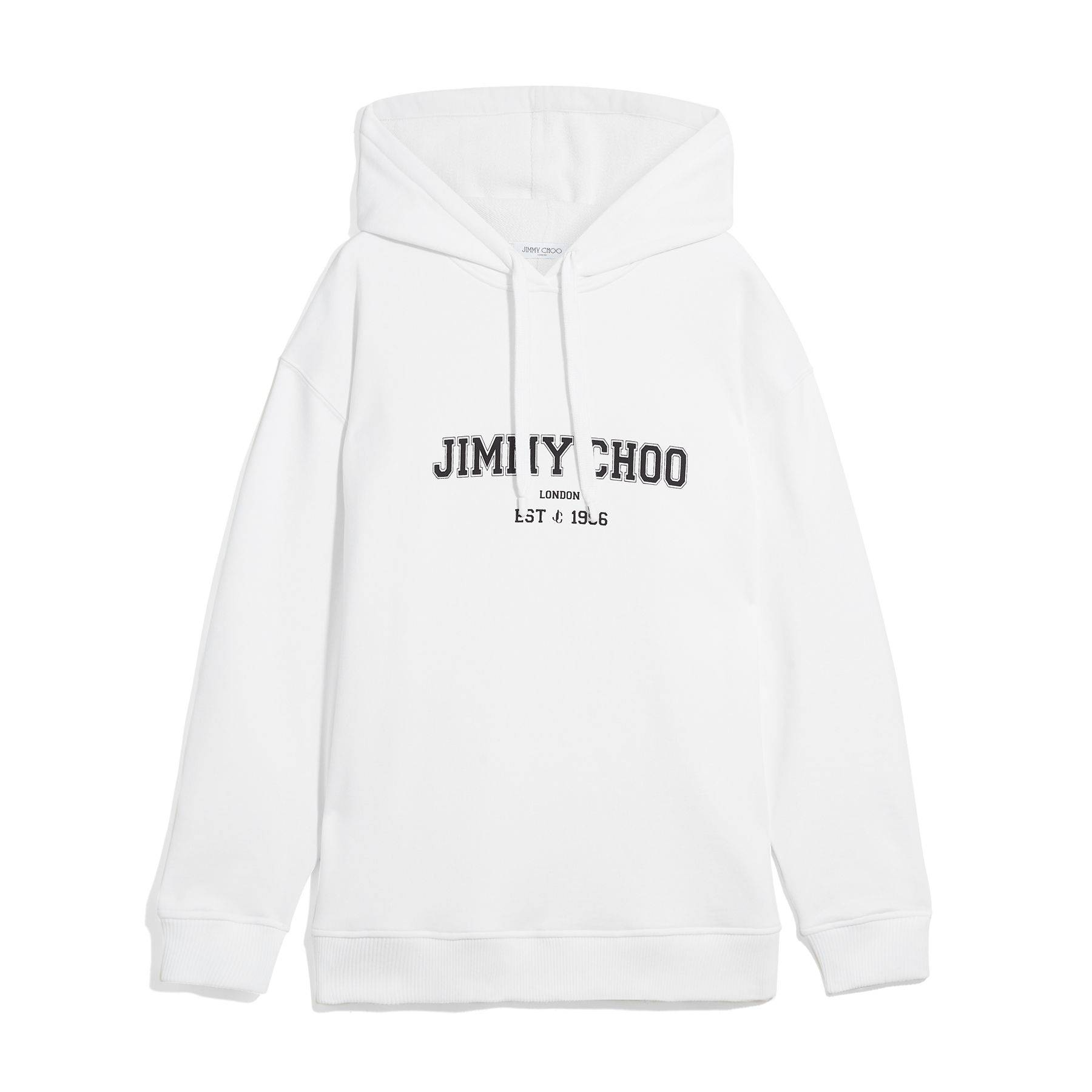 Jimmy Choo Jc College-Hoodie  - S101 White/Black - Size: Small