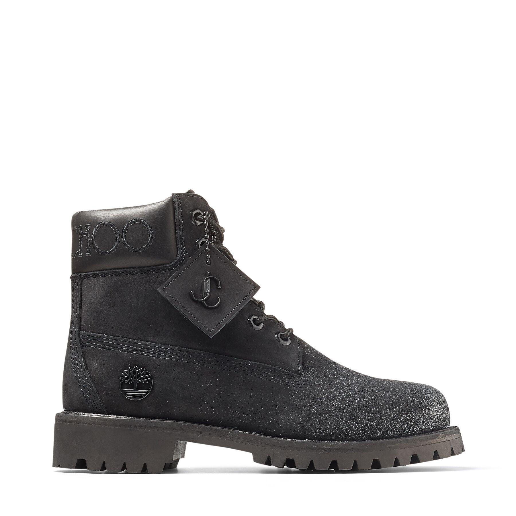 Jimmy Choo Jc X Timberland/F  - Black - Size: 7.5