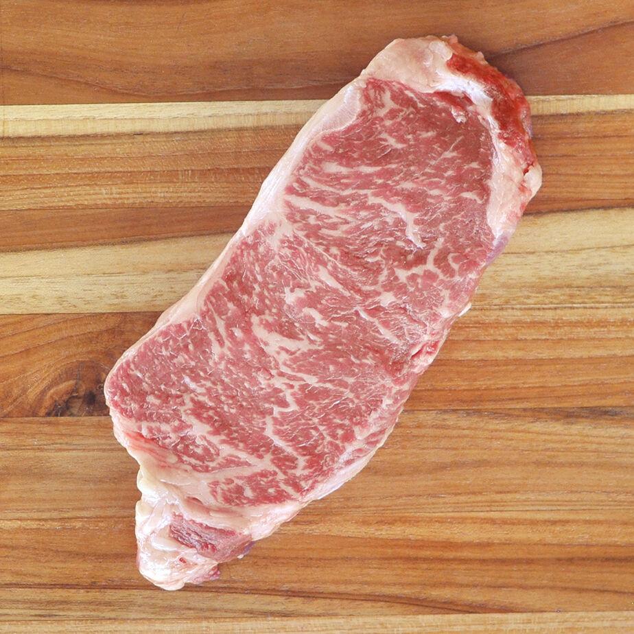 D'Artagnan Wagyu Beef Strip Steak, Boneless: Frozen / 1 Steak (12 oz avg. each) by D'Artagnan