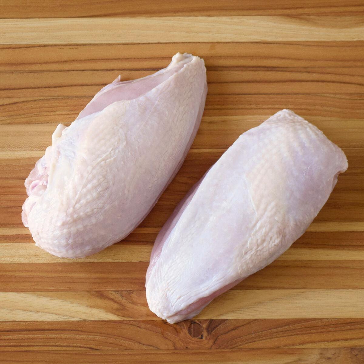 D'Artagnan Organic Chicken Breasts, Split: Fresh (5lb case 4 1.25lbs avg packs avg. each)  by D'Artagnan