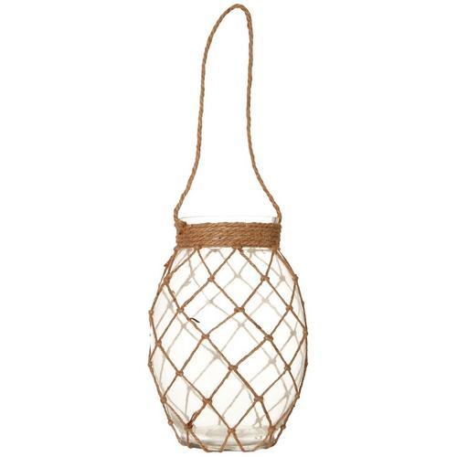 Coastal Home Rope Glass Candle Jar -