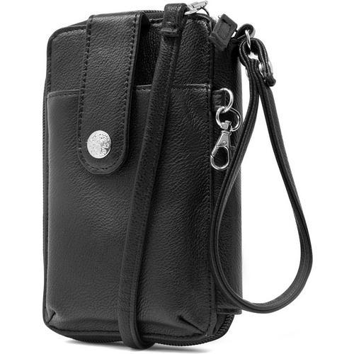 Mundi Cell Phone Crossbody Wallet -Black