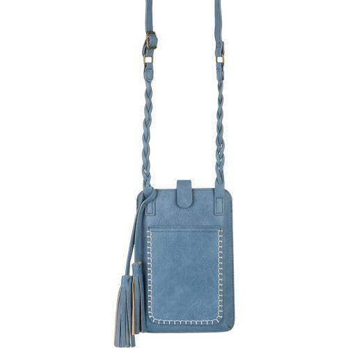 Save The Girls Free Spirit Cell Phone Handbag -Blue