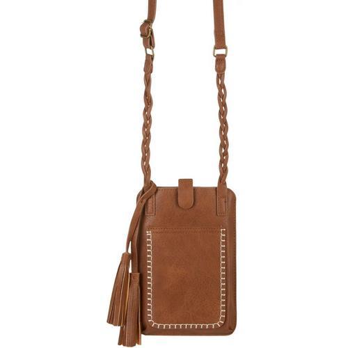 Save The Girls Free Spirit Cell Phone Handbag -Brown