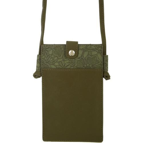Save The Girls Lacey Mae Cell Phone Handbag -Green