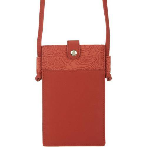 Save The Girls Lacey Mae Cell Phone Handbag -Red