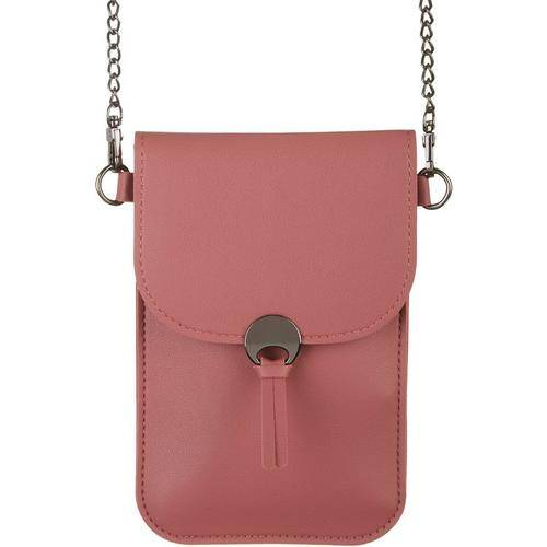 Secondary Save The Girls Colorado Solid Cell Phone Handbag -Pink