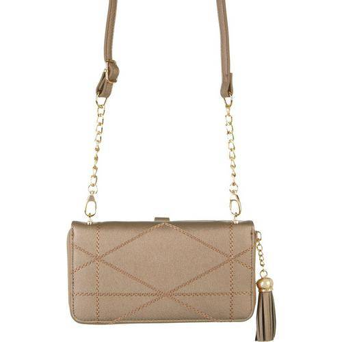 Save The Girls Allure Cell Phone Handbag -Brown