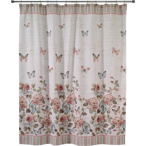 Avanti Butterfly Garden Shower Curtain -