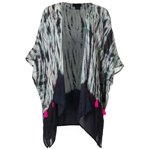 Cejon Accessories Women Tie Dye Kimono -Black