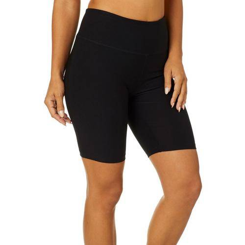 VOGO Womens Solid Knit Bike Shorts -Black