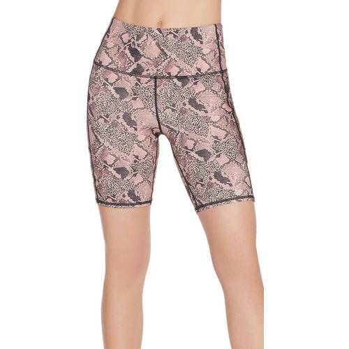 Skechers Womens Ravenous Print Bike Shorts -Beige/Multi