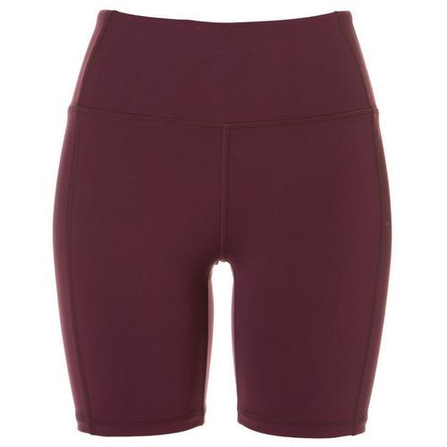 Jessica Simpson Womens Solid High Waist Bike Shorts -Purple