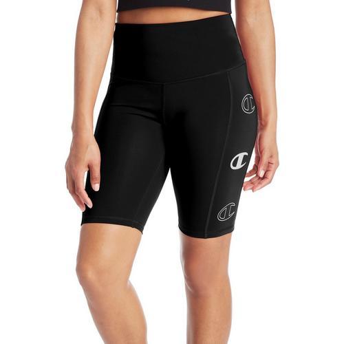 Champion Womens Sport Solid Bike Shorts -Black