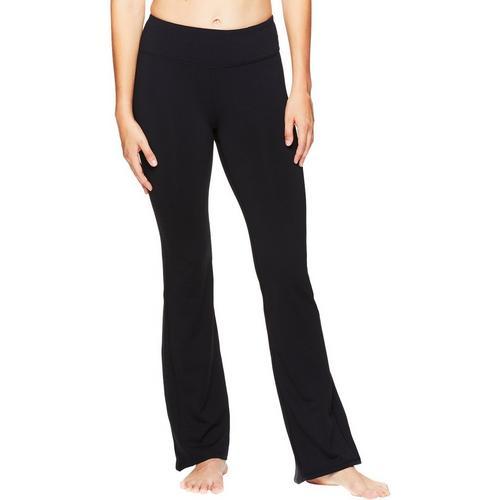 Gaiam Womens OM Solid Yoga Pants -Black