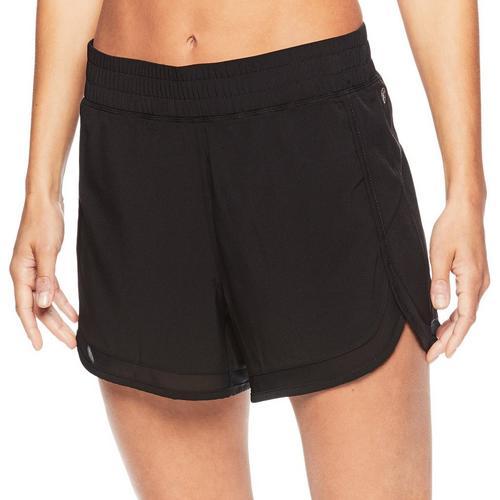 Gaiam Womens Woven Athletic Shorts -Black