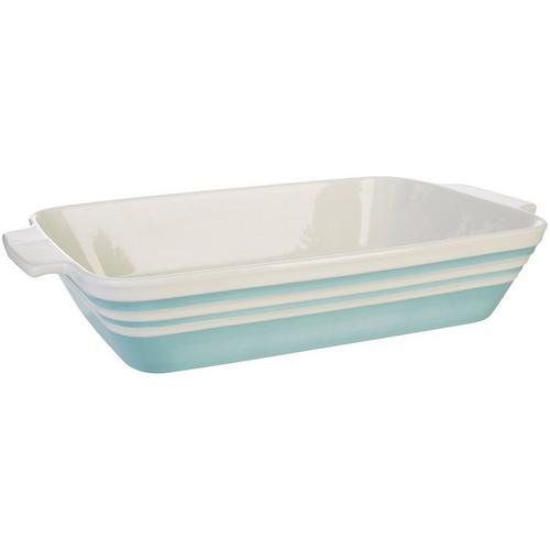 Key Lime Lexi Rectangular Baking Dish -Blue/White