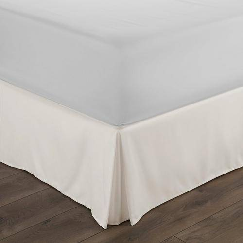 Home Collections Premium Pleated Dust Ruffle Bed Skirt -White