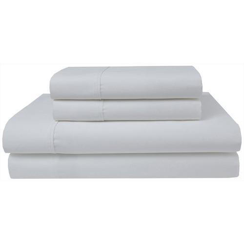 Elite Home Organic Cotton Sheet Set -White