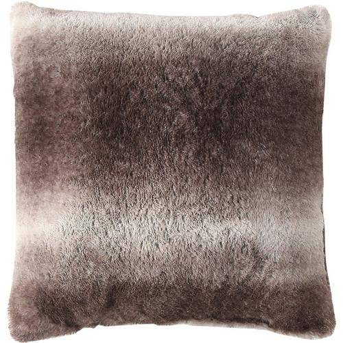 Morgan Home Fashions Millburn Single Faux Fur Throw Pillow -Brown