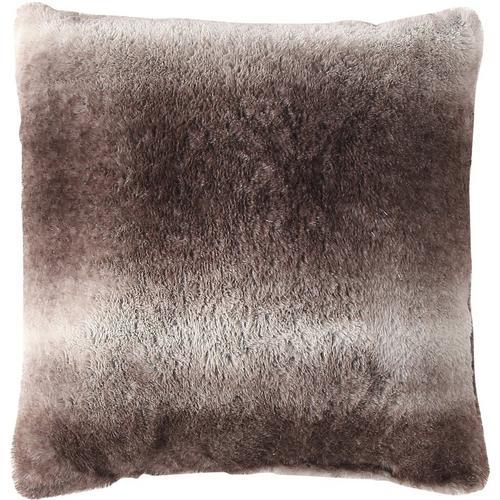 Morgan Home Fashions Millburn Single Faux Fur Throw Pillow -Brown