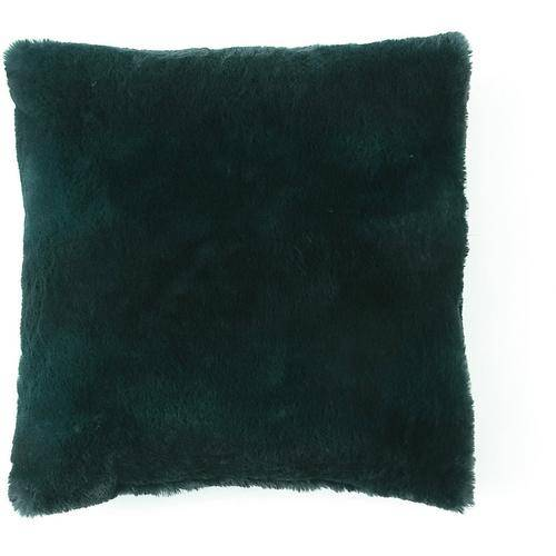 Morgan Home Fashions Millburn Single Faux Fur Throw Pillow -Green