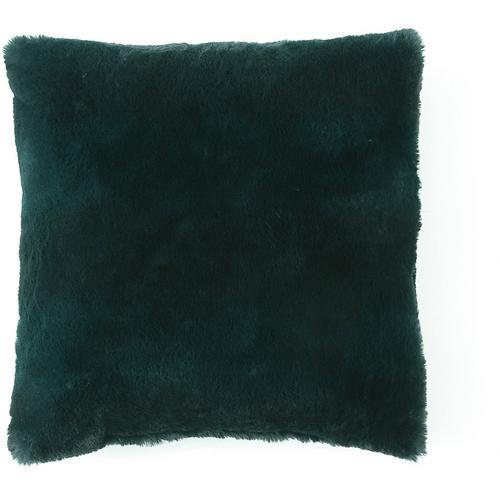 Morgan Home Fashions Millburn Single Faux Fur Throw Pillow -Green