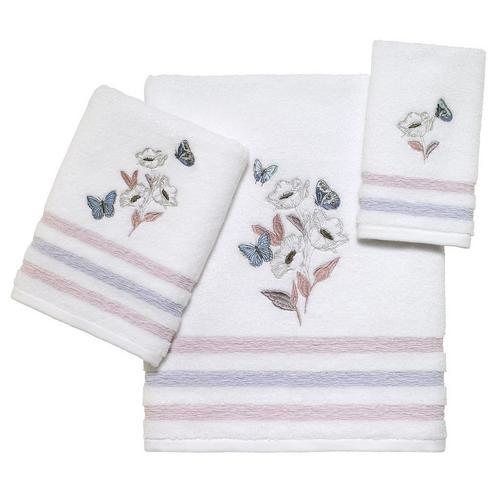 Avanti In The Garden Towel Collection -White