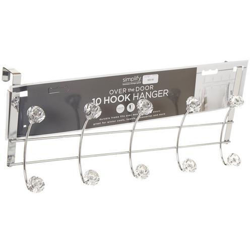 Simplify 10 Hook Over The Door Hanging Rack -