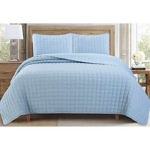 CHD Home Textiles Lauson House Quilt Set -Blue