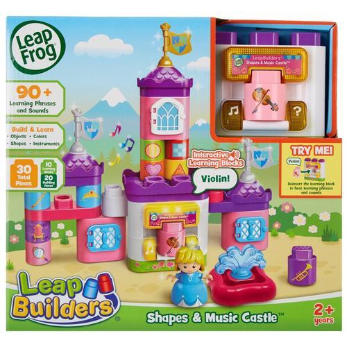 Leap Frog LeapBuilders Shapes & Music Castle -Pink/Purple
