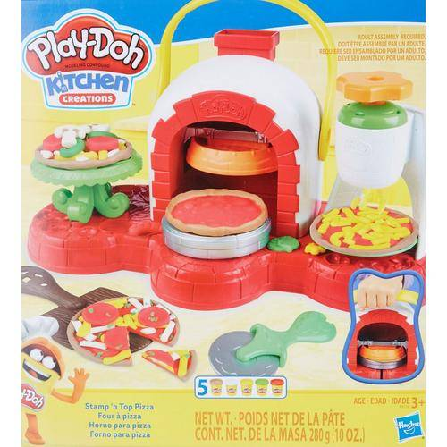 Play-Doh Kitchen Creations Stamp 'N Top Pizza Playset -Red