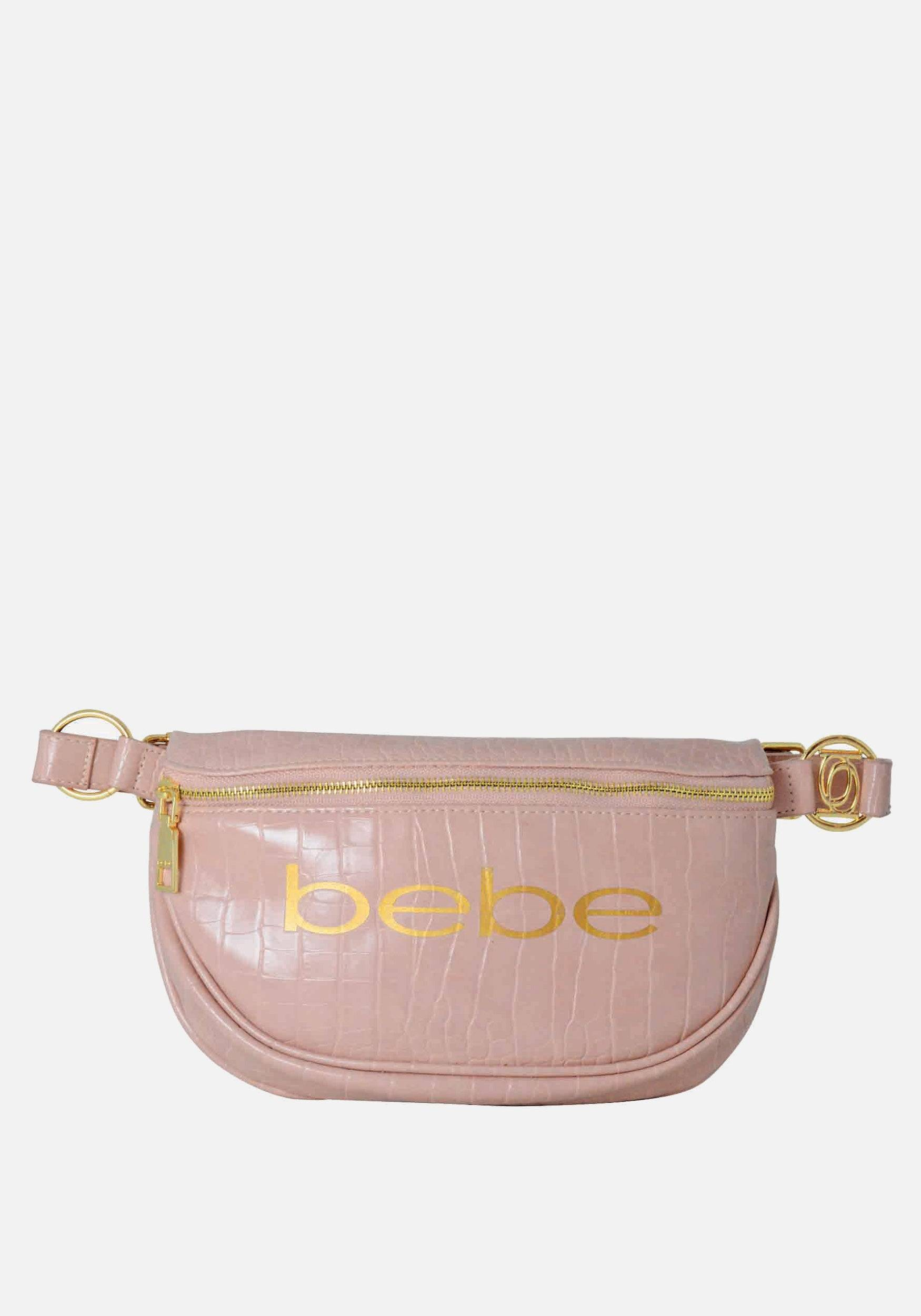 Bebe Women's Josephine Croco Convertible Sling in Dusty Pink Polyester