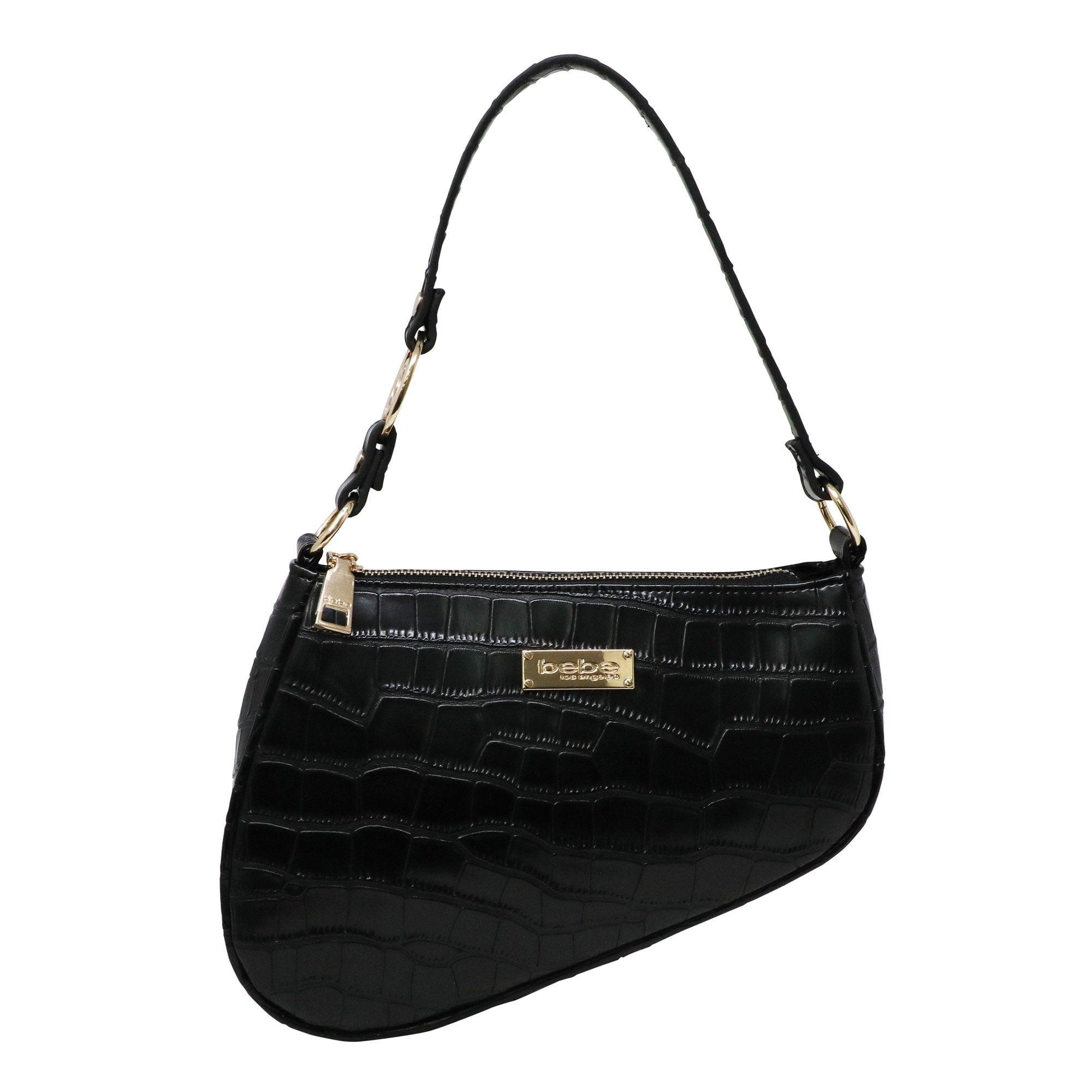Bebe Women's Tara Saddle Shoulder Medium Bag in Black Polyester