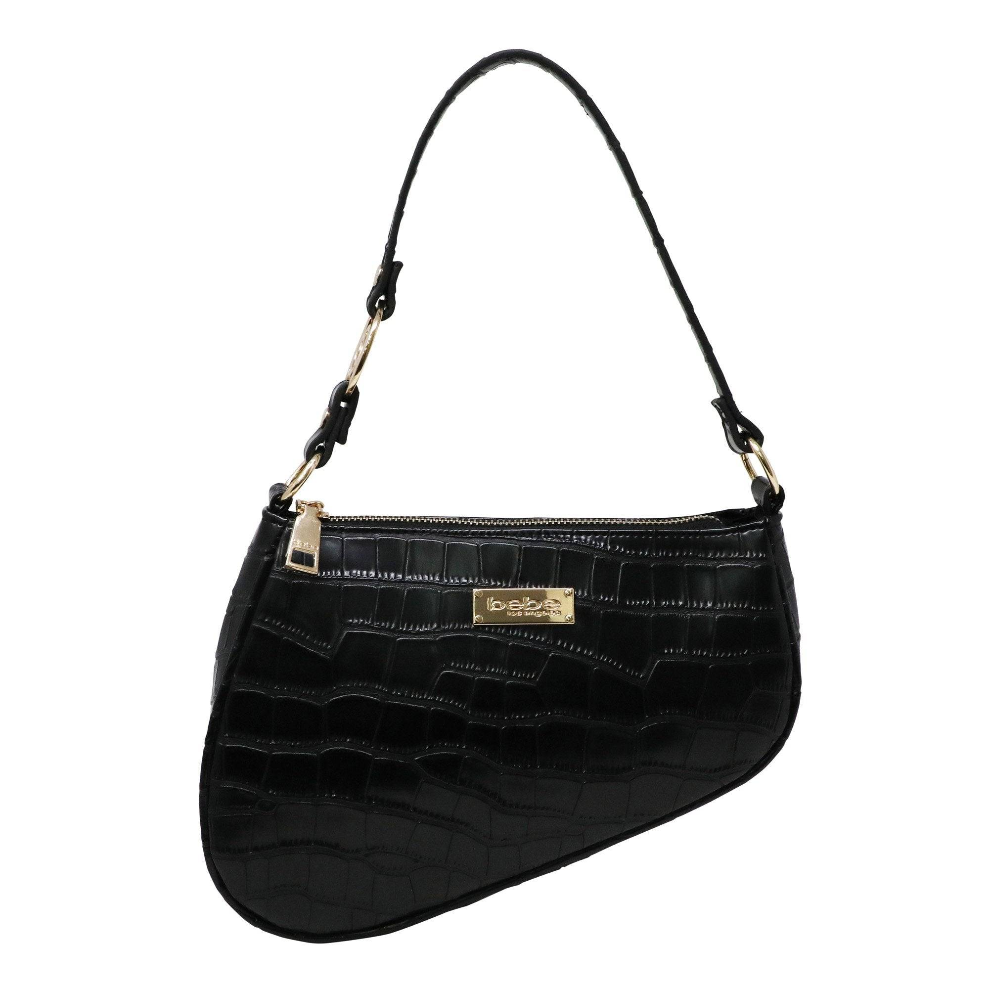 Bebe Women's Tara Saddle Shoulder Medium Bag in Black Polyester