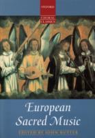 European Sacred Music by John Rutter