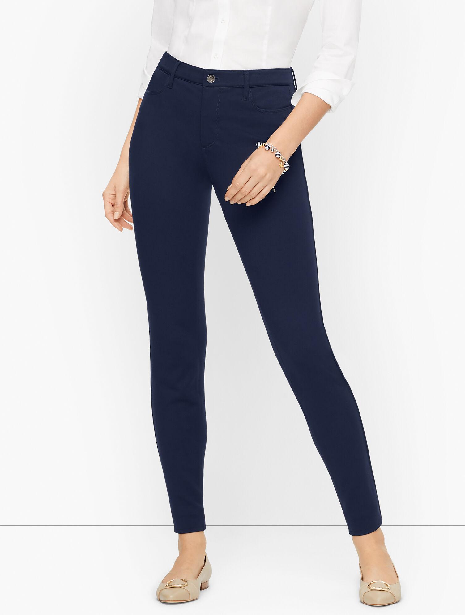 Talbots Ponte Jegging Pants - Blue - 2 Talbots  - Blue - Size: female - Size: 2