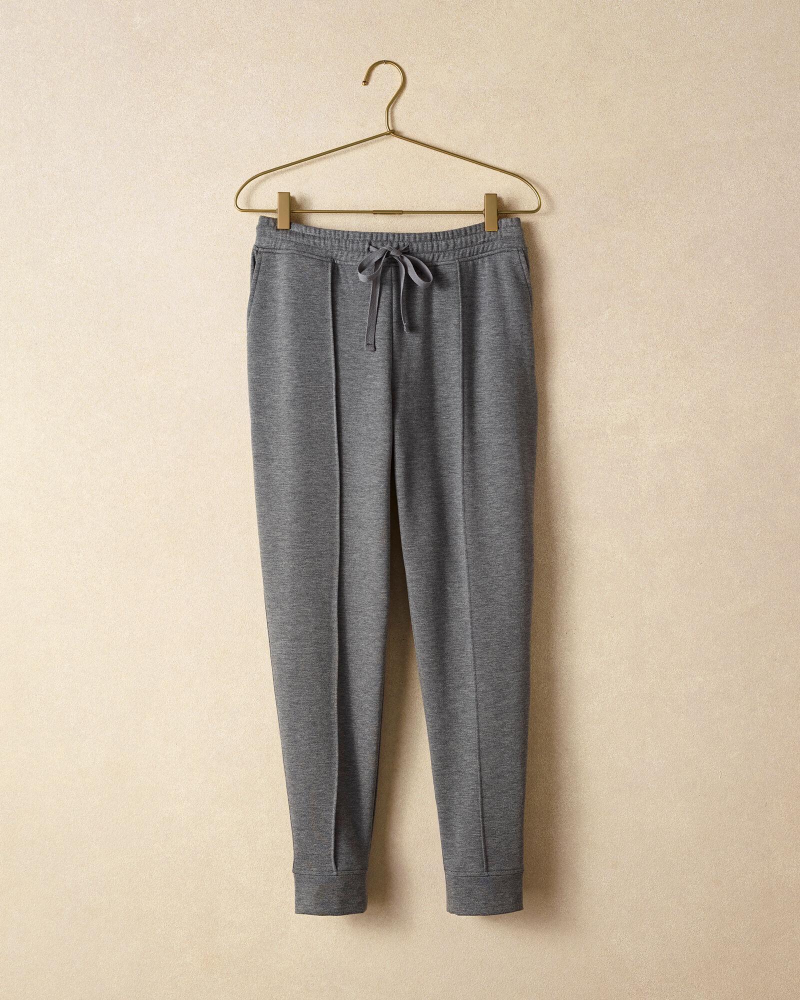Talbots Cloud Fleece Jogger - Graphite Grey Heather - XS Talbots  - Graphite Grey Heather - Size: female - Size: Extra Small