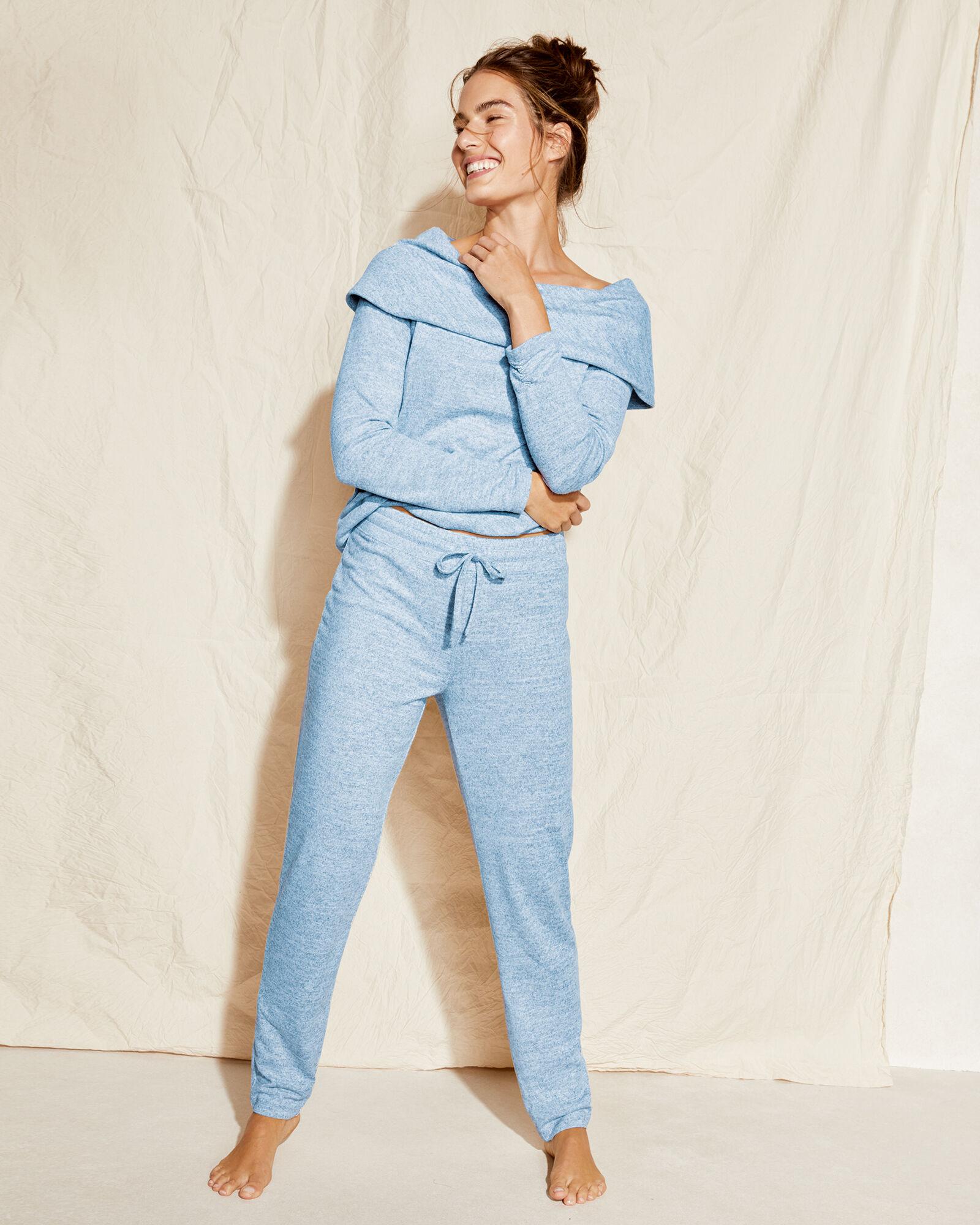 Talbots Marled Pants - Soft Icy Blue Heather - Large Talbots  - Soft Icy Blue Heather - Size: female - Size: Large