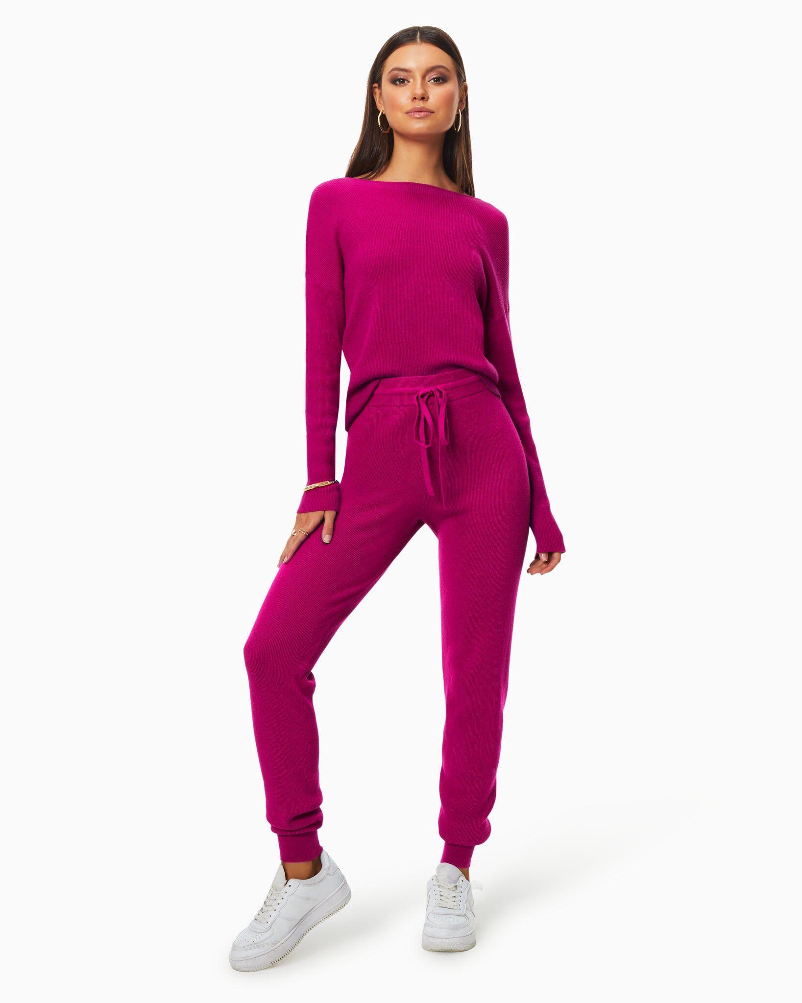 Landon Knit Jogger in Diva Pink - Diva Pink - Size: L