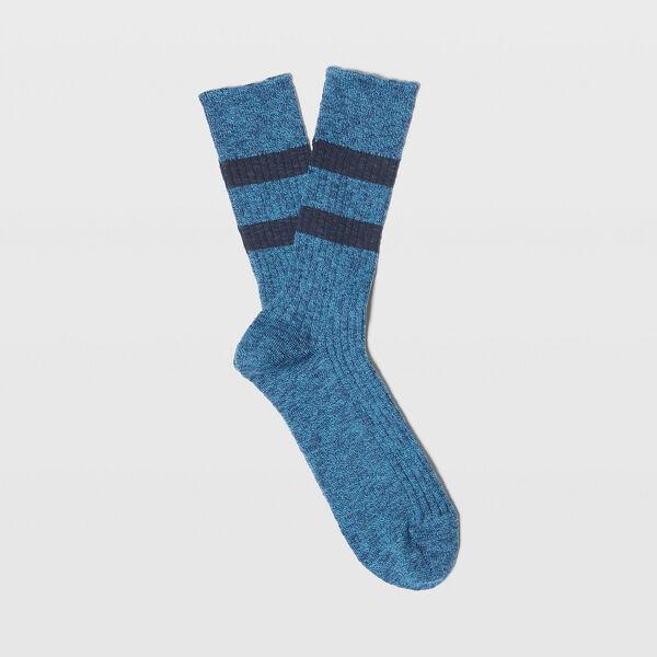 Club Monaco Blue Multi Sport Stripe Socks in Size One Size [Male]