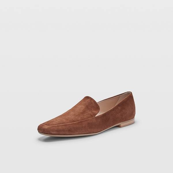 Club Monaco Caramel Sofii Suede Loafer Flats in Size 39 [Female]