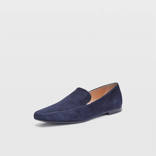 Club Monaco Navy Sofii Suede Loafer Flats in Size 37 [Female]