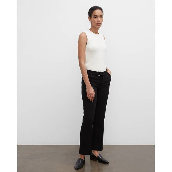 Club Monaco Black Bootcut Trousers in Size 4 [Female]