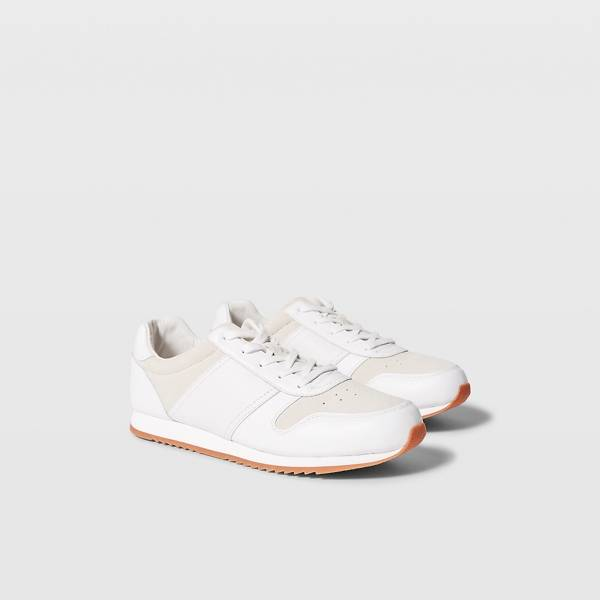 Club Monaco White Club Monaco Runner Sneaker in Size 11.5 [Male]